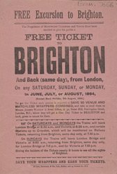 Advert For Free Tickets Given Away By Matchless Cleaner & Venus Soap